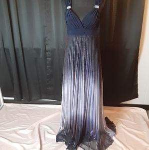 Betsy & Adam floor length gown size 12